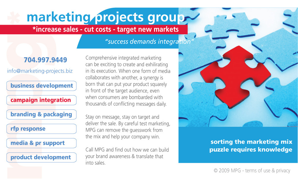 Marketing Projects Group Marketing Campaign Integration