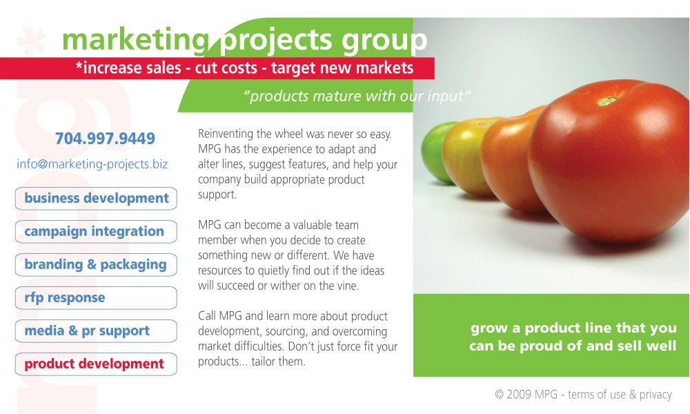 Marketing Projects Group Product Development, Analysis, Sourcing, Features and Customized Support