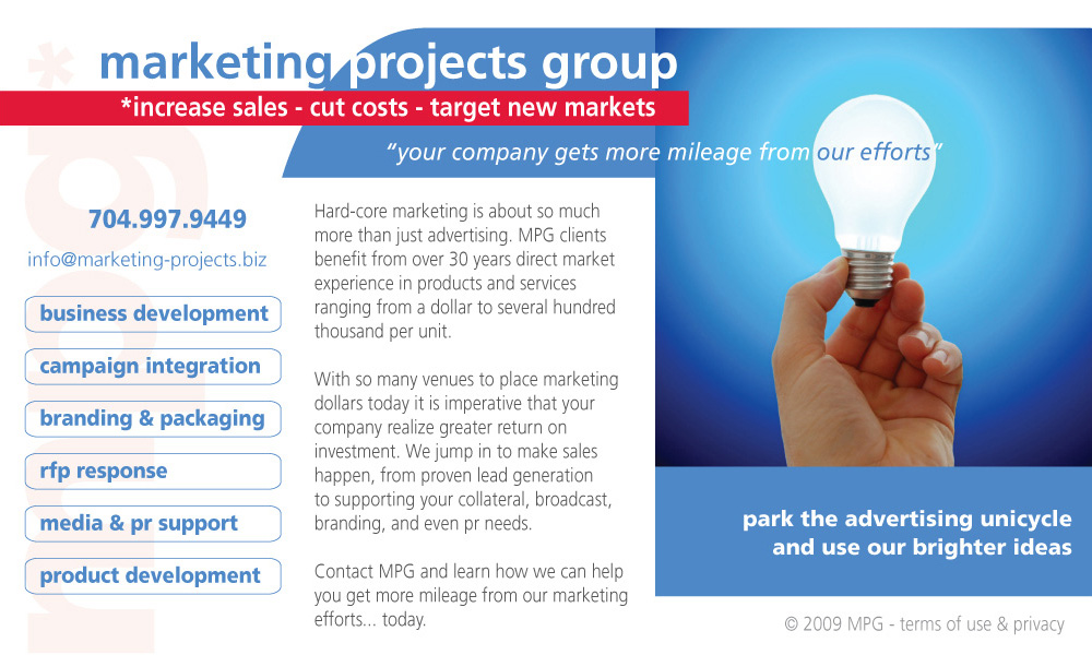 Marketing Projects Group Home Page